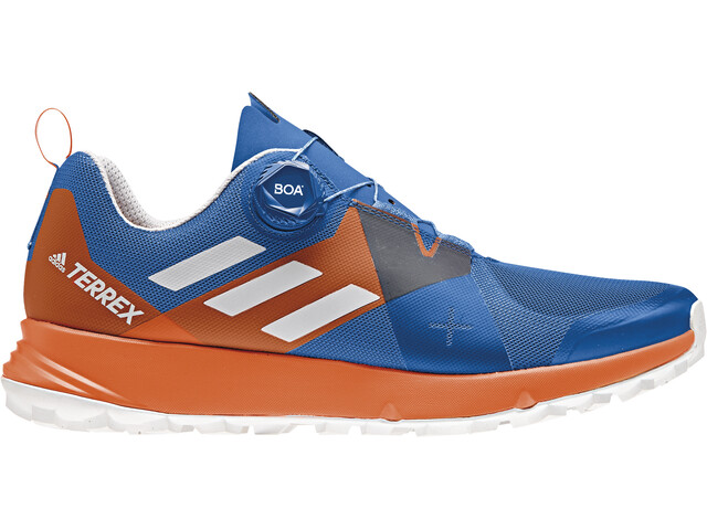 adidas TERREX Two Boa Trail-Running Shoes Men Blue Beauty/Grey One/Orange